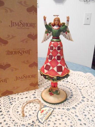Heartwood Creek Jim Shore Christmas Joy Open Arms Finial Angel | eBay