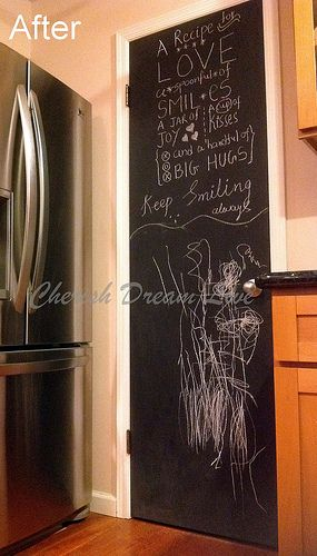 Chalkboard Kitchen Pantry Door Pantry Door Kitchen Pantry Doors
