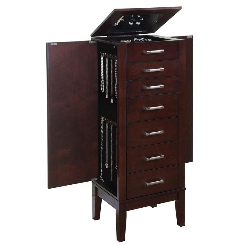Best Contemporary Espresso Jewelry Armoire Jewelry Box Avenue 400 x 300