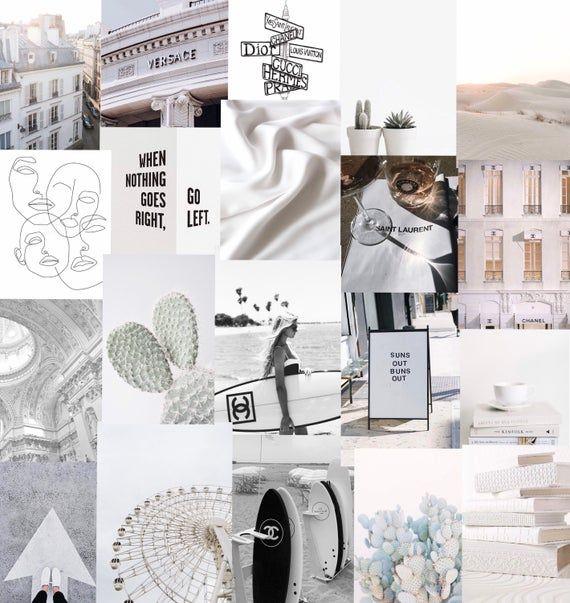 White and Black Designer art collage pack