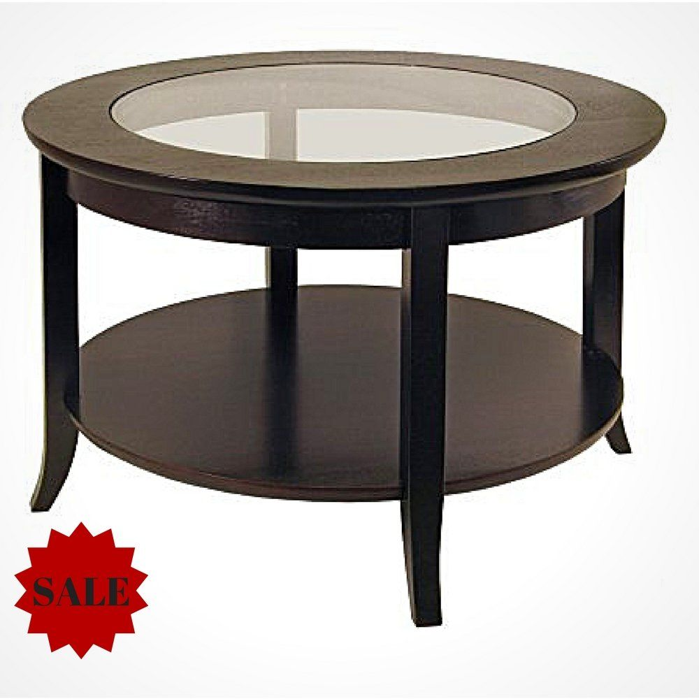 Coffee Table Wood Coffee Table With Glass Top And Bottom Shelf