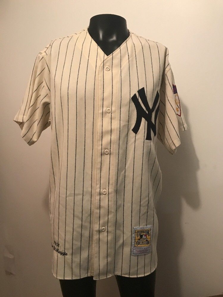 new style a69c5 4dcaf NWT Joe DIMAGGIO YANKEES 100% WOOL JERSEY Cooperstown ...