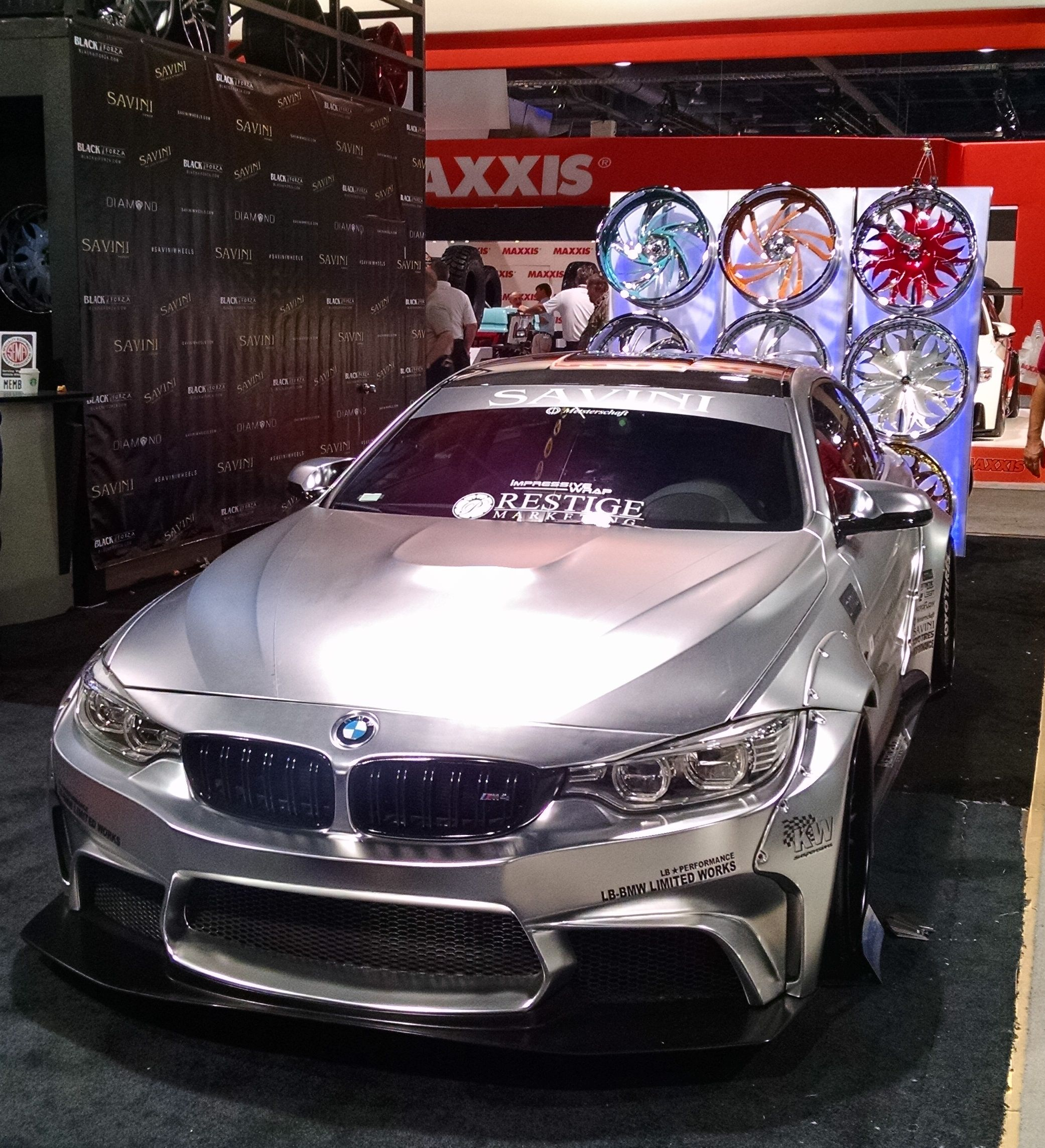 Wild Chrome BMW M4 From Liberty Walk. Savini Wheels. SEMA
