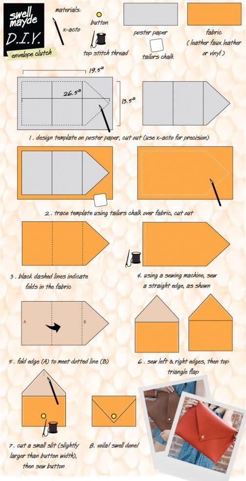 Make It Easy Envelope Clutch Envelope clutch, Diy clutch and