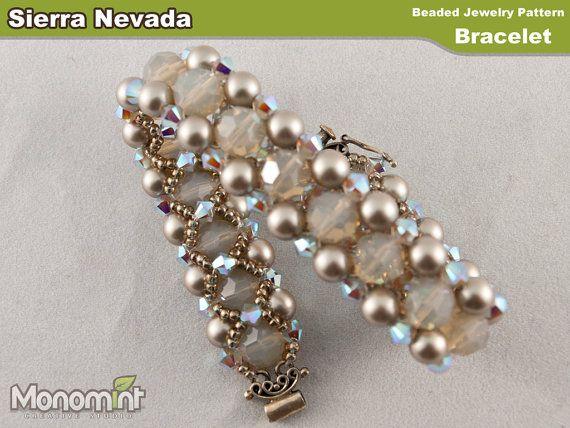Bracelet Beading Pattern PDF - Sierra Nevada on Etsy, £2.47