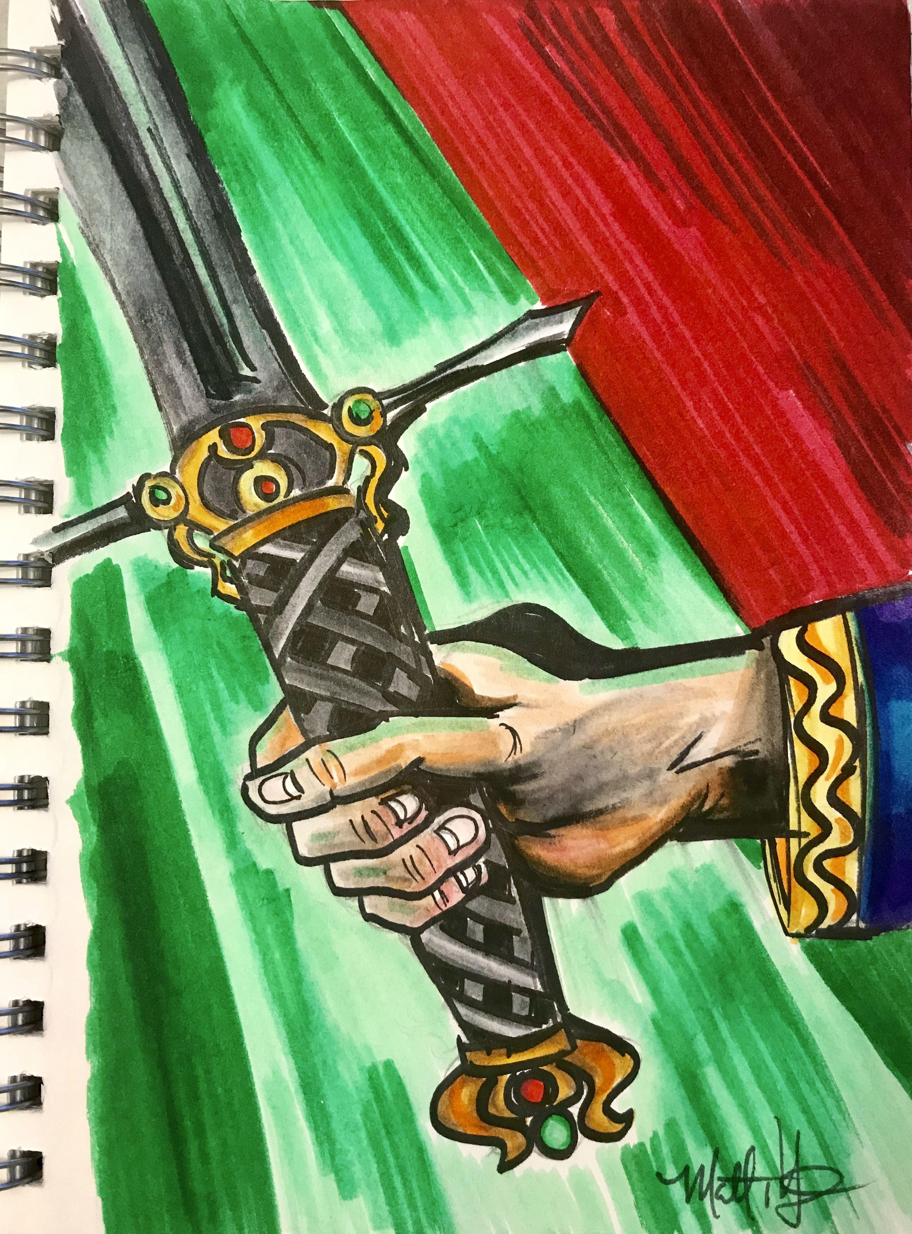 Enchanted sword web design gallery medium art sketch pad