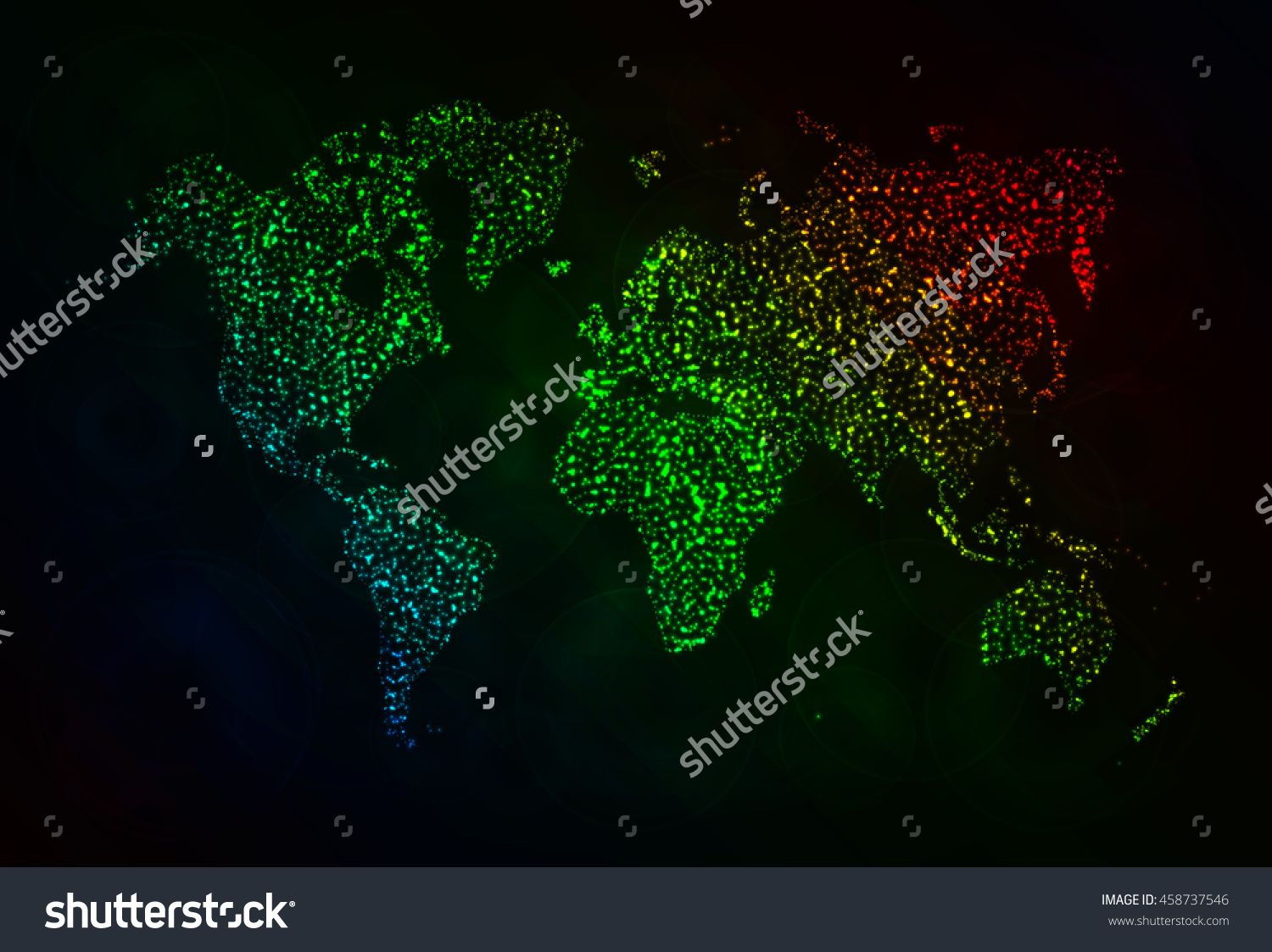 Map illustration icon gradient color lights silhouette on dark map illustration icon gradient color lights silhouette on dark background glowing lines and points world map vector world map vector world map vector sciox Image collections