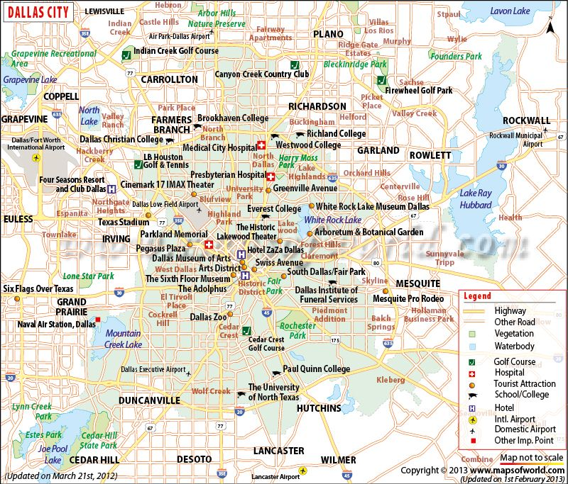 Dallas is the ninth populous city in the USA. Explore its map with on