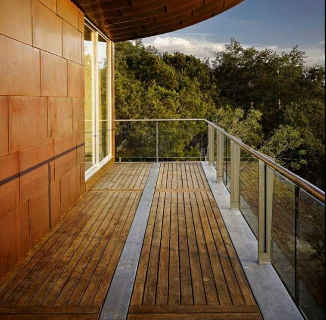 Barandillas de cristal interior1 pinterest barandas for Balcones madera exterior
