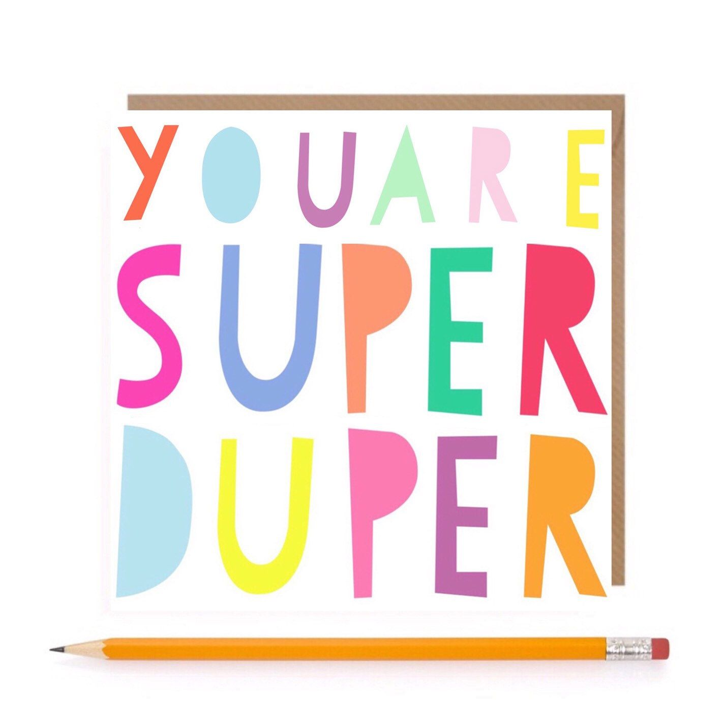 Super Duper Card • Super Birthday Card • Girls Greetings Card