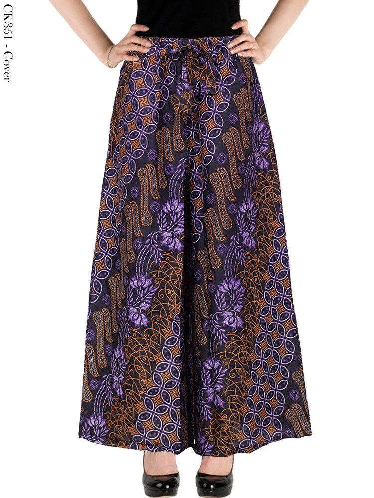 Celana Kulot Batik Wanita Modern Masa Kini Celana Dan Rok Kulot