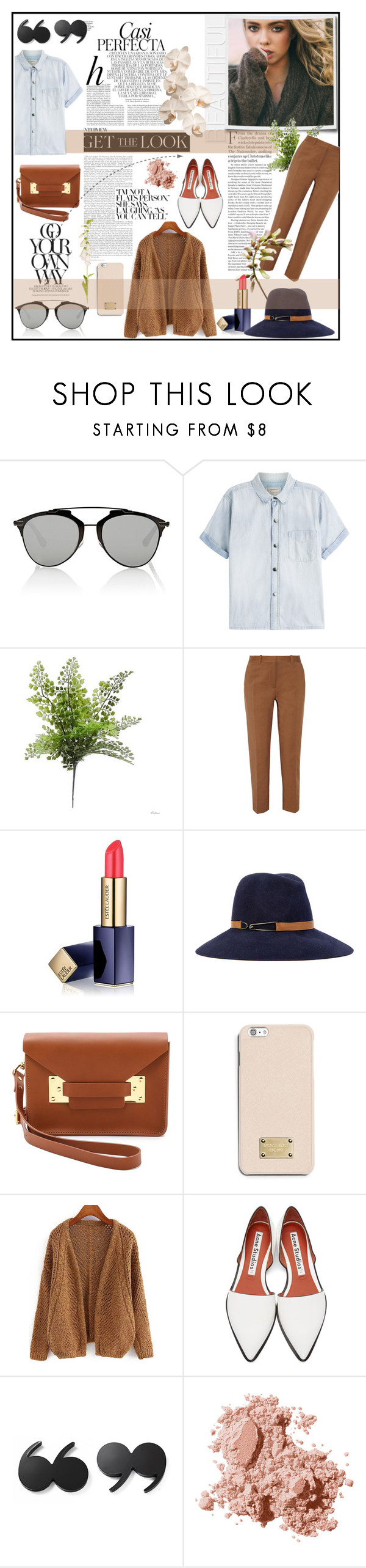 """Untitled #203"" by pink-powder ❤ liked on Polyvore featuring Whiteley, Chanel, Christian Dior, Current/Elliott, 3.1 Phillip Lim, Estée Lauder, Eugenia Kim, Sophie Hulme, MICHAEL Michael Kors and Acne Studios"