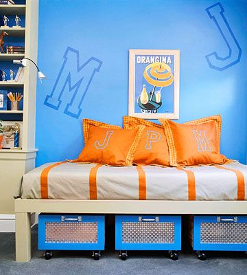 Blue And Orange Bedroom Ideas 2 Simple Decorating