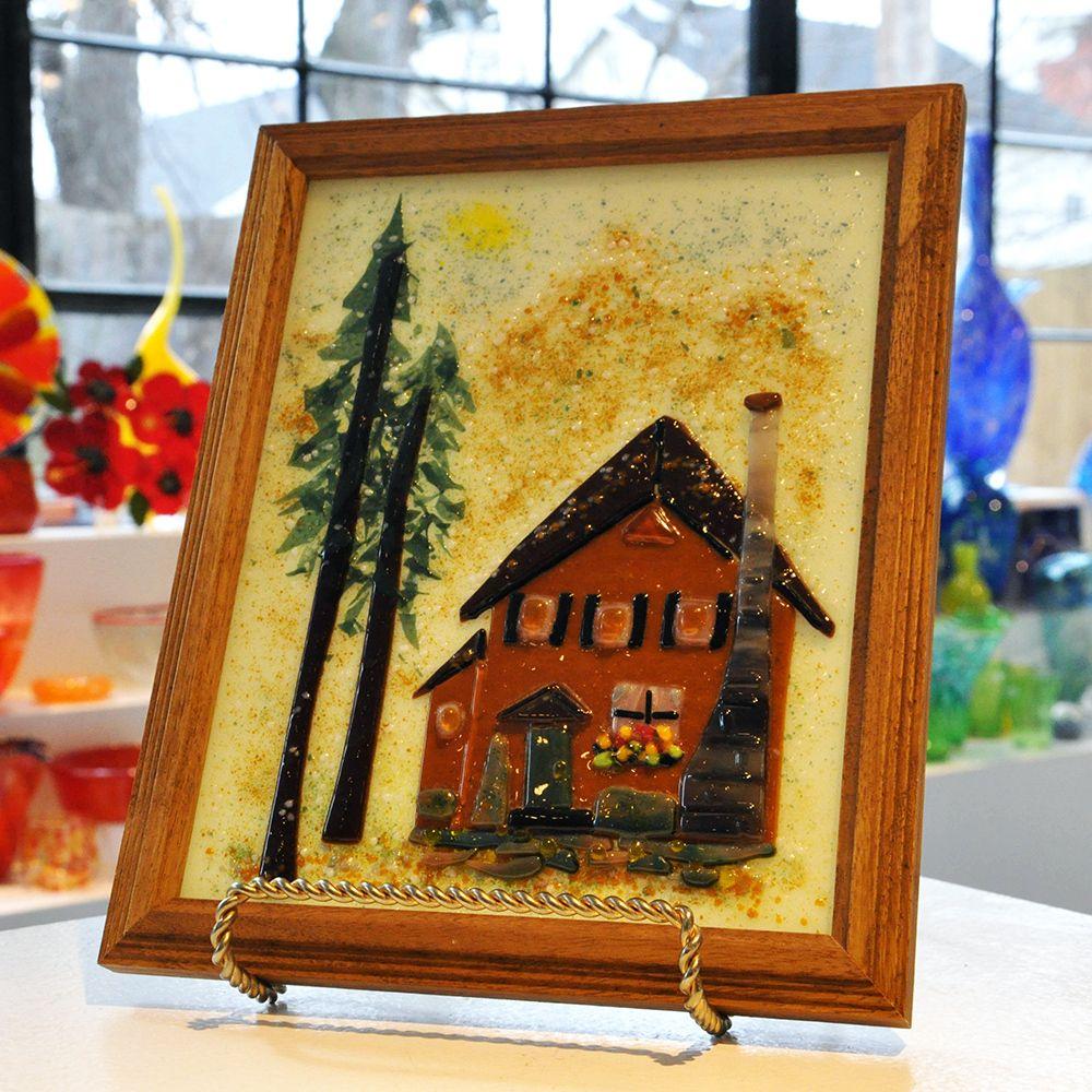 Framed fused glass home in 2020 handmade artwork fused
