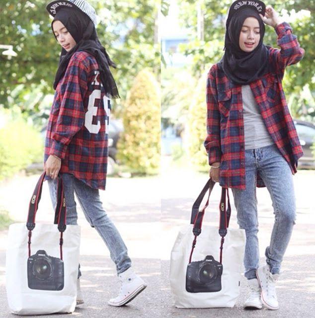 Contoh Hijab Cantik Untuk Kamu Yang Tomboy | Style And Fashion | Pinterest | The ou0026#39;jays Tomboys ...