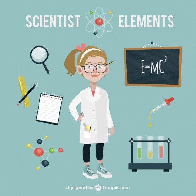 Scientist With Science Accessories Science For Kids Chemistry