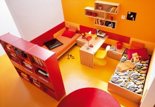 Beeindruckende Zimmer Streichen Ideen Farben Fr Jeden Raum Im ... Wohnzimmer Orange Schwarz