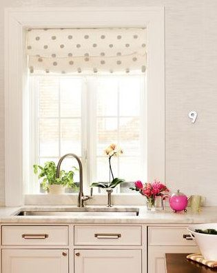 Best Polka Dot Roman Shade In Grey White Fabric To Use 640 x 480