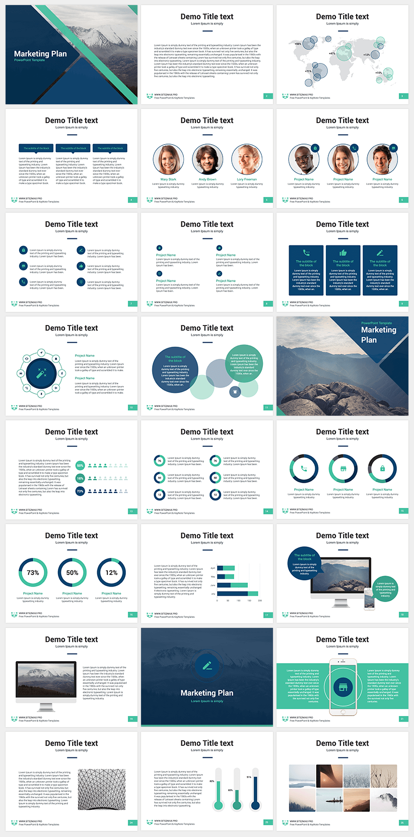 free powerpoint template marketing plan