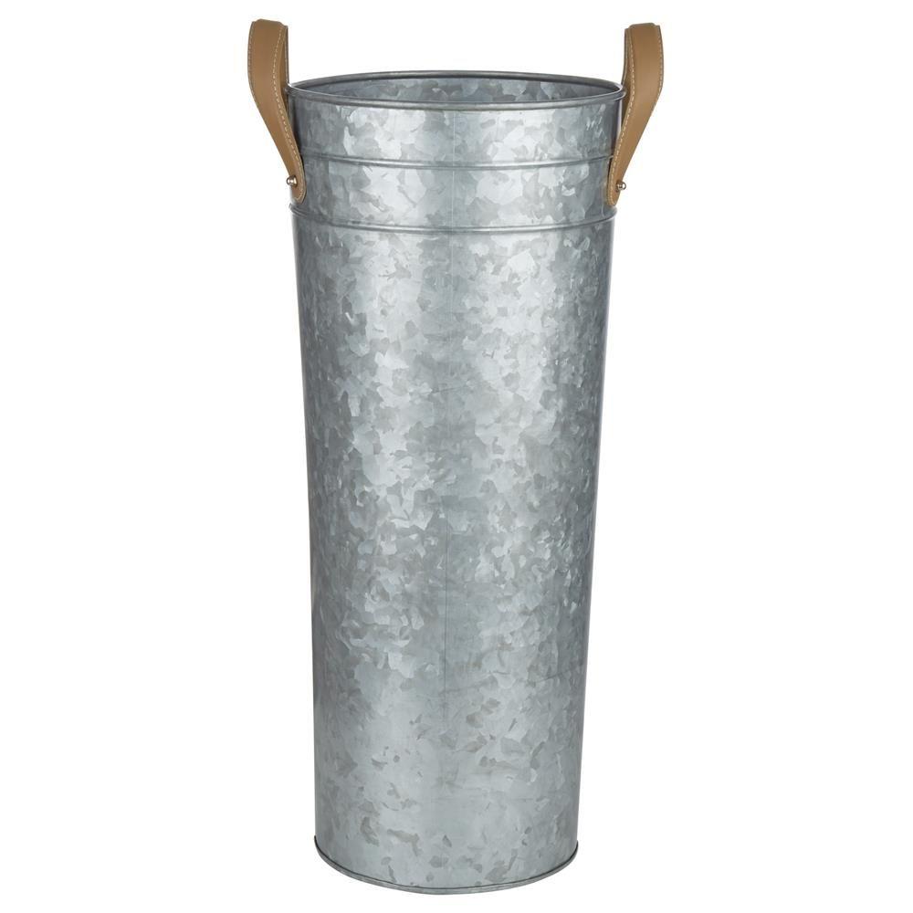Galvanized Metal Floor Vase With Handles Bouclair Com Stylish