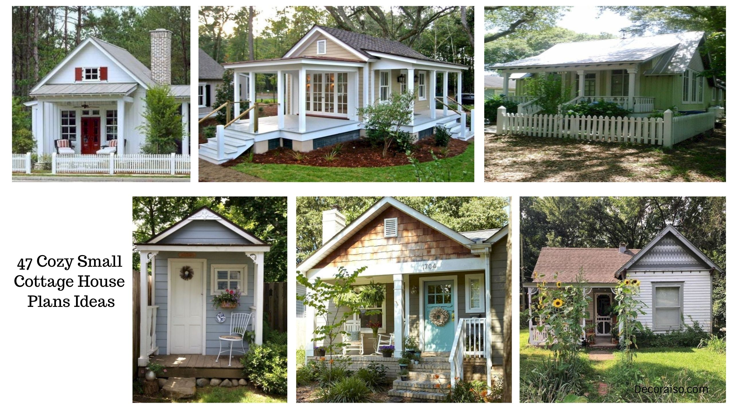 Stunning 47 Cozy Small Cottage House Plans Ideas Http Decoraiso Com Index Php 2018 06 02 47 Cottage House Plans Small Cottage Homes Small Cottage House Plans