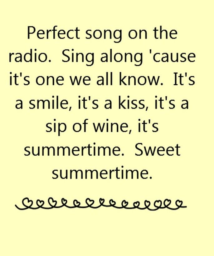 Kenny Chesney   Summertime   Song Lyrics, Song Quotes, Songs, Music Lyrics,