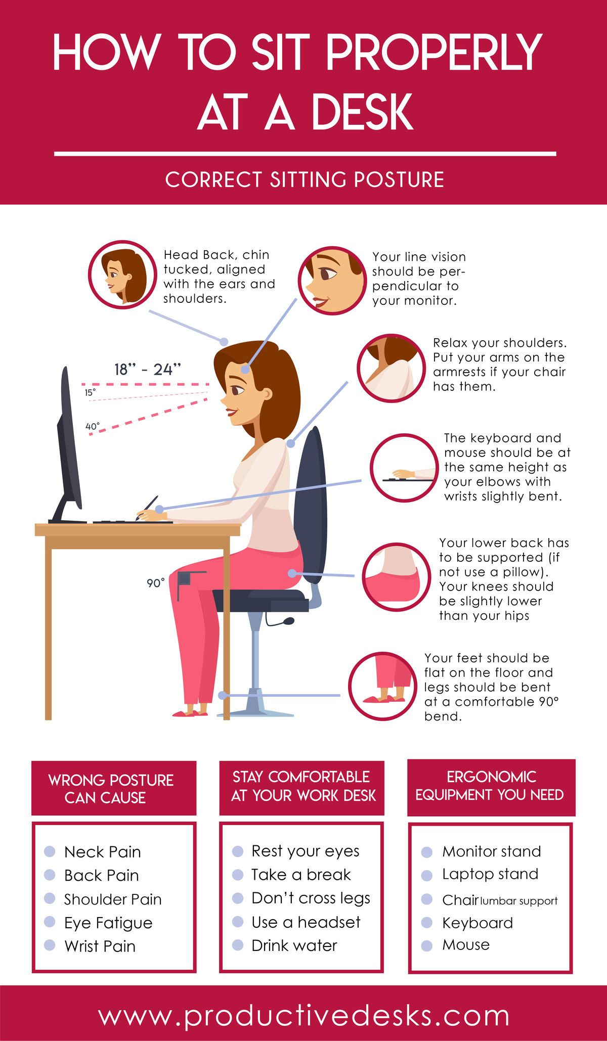 How To Sit Properly At A Desk Ergonomic Tips How To Sit Properly Proper Going To The Gym