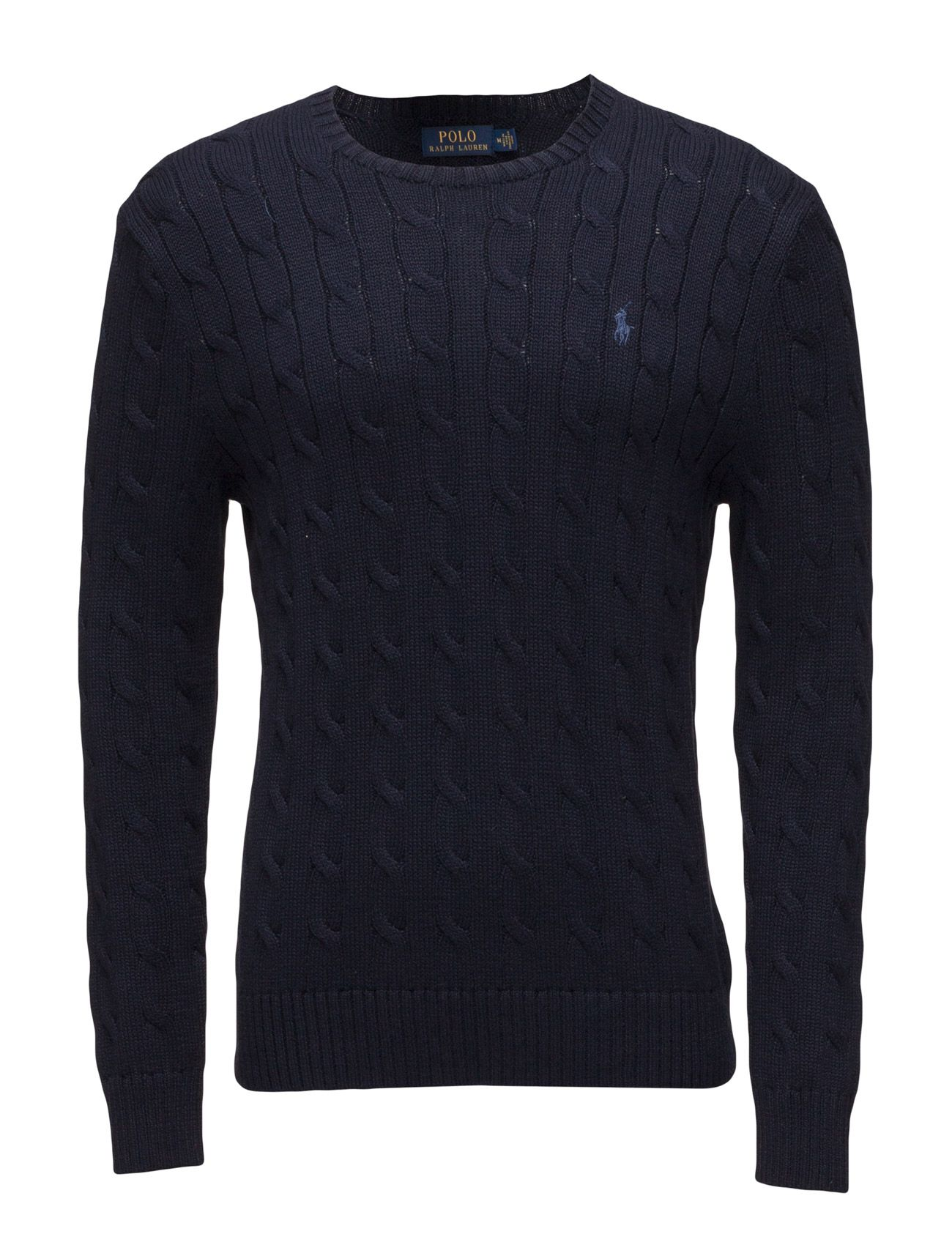 16090ee05 polo ralph lauren cable-knit cotton sweater hunter navy men tops knitwear round  necks