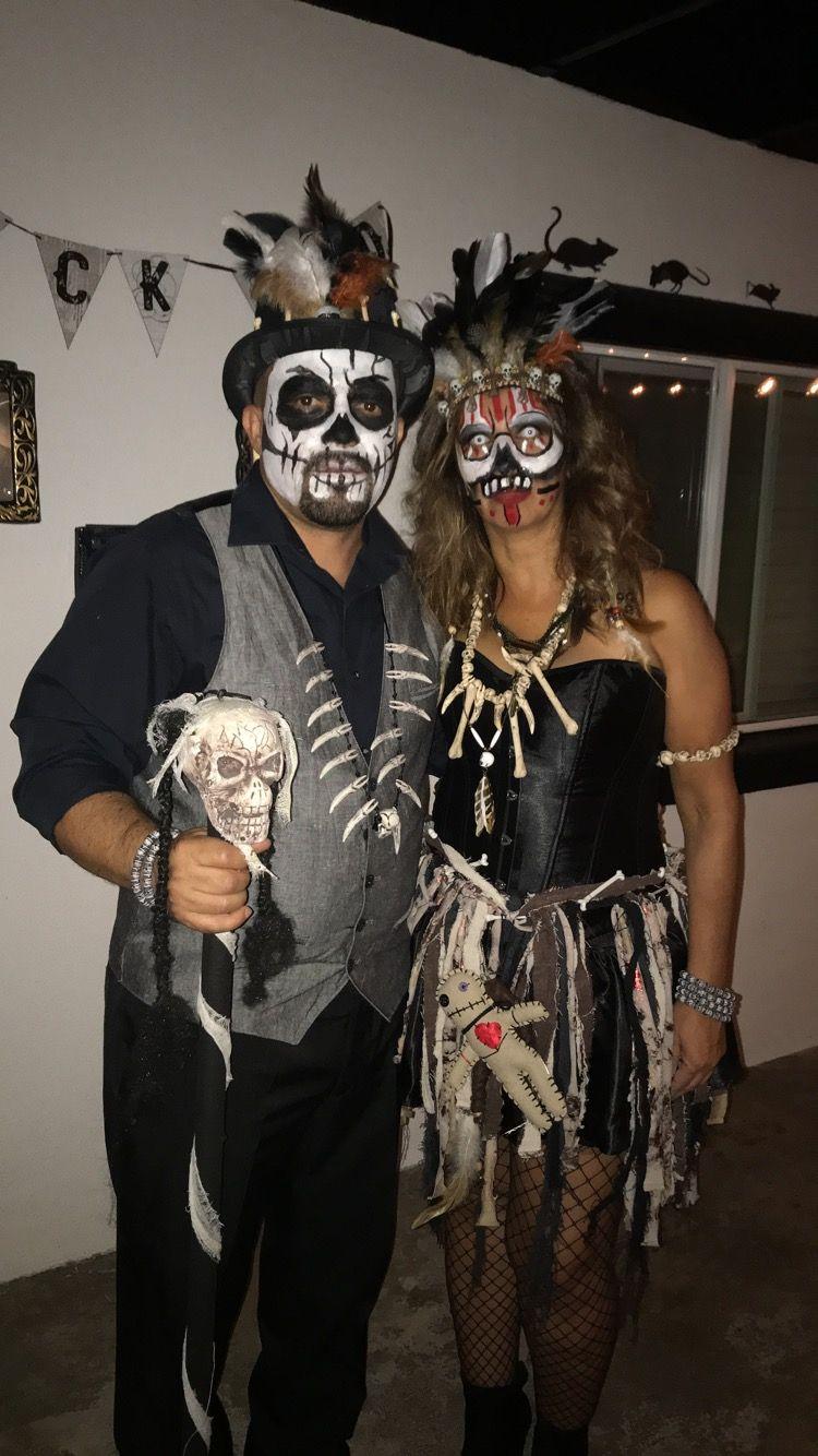 Garçons Sorcier Costume VOODOO Halloween Squelette Fancy Dress Party Outfit