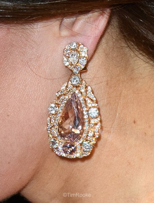...Kate's heavy-with-diamonds earring....