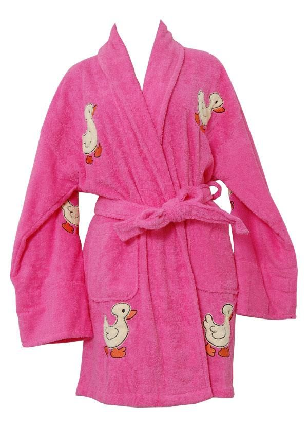 Aegean Lucky Duck Hot Pink Terrycloth Robe Bath Robes ca1391875