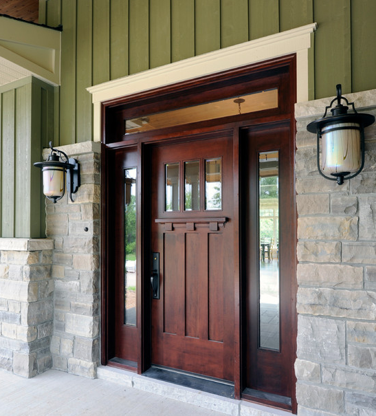 Attractive Solid Wood Front Door #10: Strong And Secure Solid Wood Entry Doors | Inhabit Blog