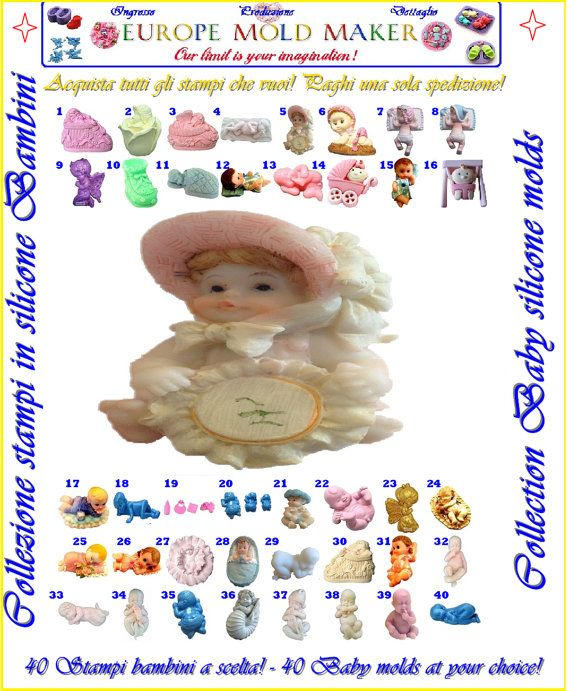 resin plaster soap clay polymer candle clay от EuropeMoldMaker