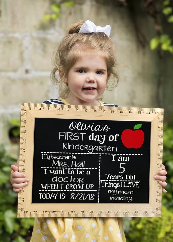 First Day of School Chalkboard, First Day of School Sign, Reusable First Day of School Sign, First Day of Kindergarten, Preschool #firstdayofschoolsign