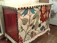 Upcycle an old dresser....Hand Painted Furniture ~ Bold Floral Chest
