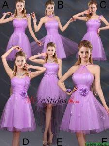 3b37ee5e0f Las Súper Hot lila Una Línea vestidos de dama de