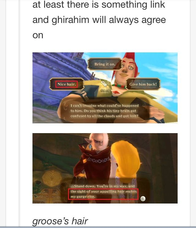 The one thing Link and Ghirahim have in common.