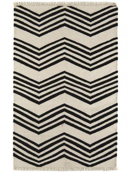Teppich Kilim Schwarz\/Weiss, perfekt für mein wohnzimmer - wohnzimmer teppich schwarz weis