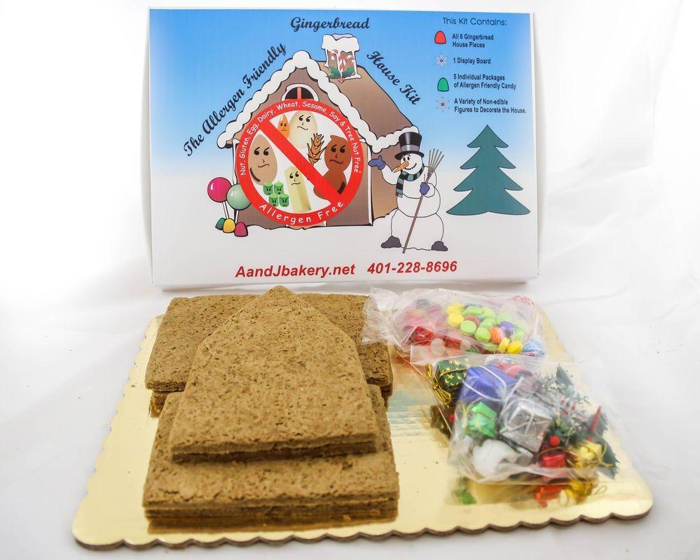 Allergy friendly gingerbread house kit Gluten free