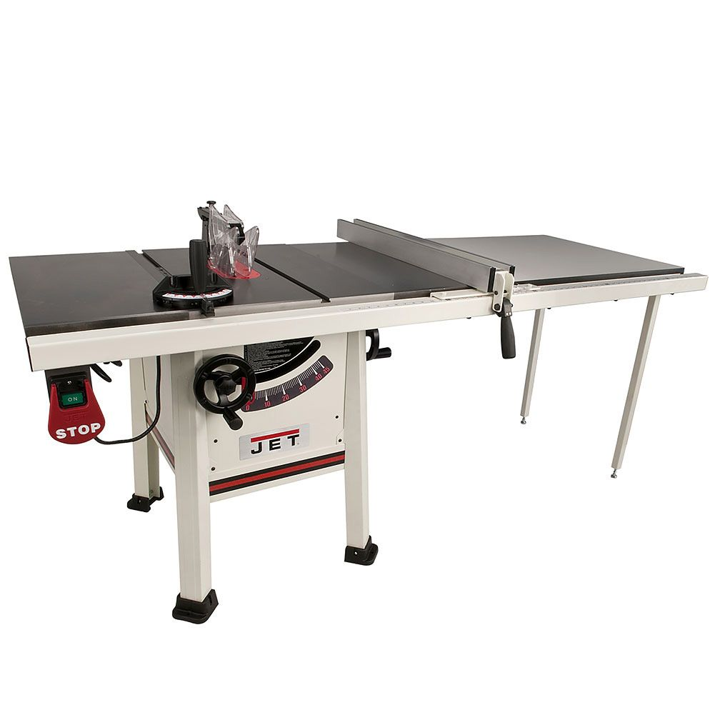 Jet 10 Proshop Table Saw 1 3 4 Hp 52 Fence Cast Wing Jps 10ts Power Tools Craft Supplies Usa Home Made Table Saw Best Table Saw Diy Table Saw