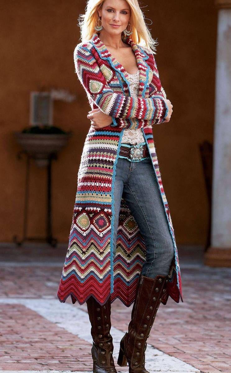 4ff59ef674ed Crochet coat