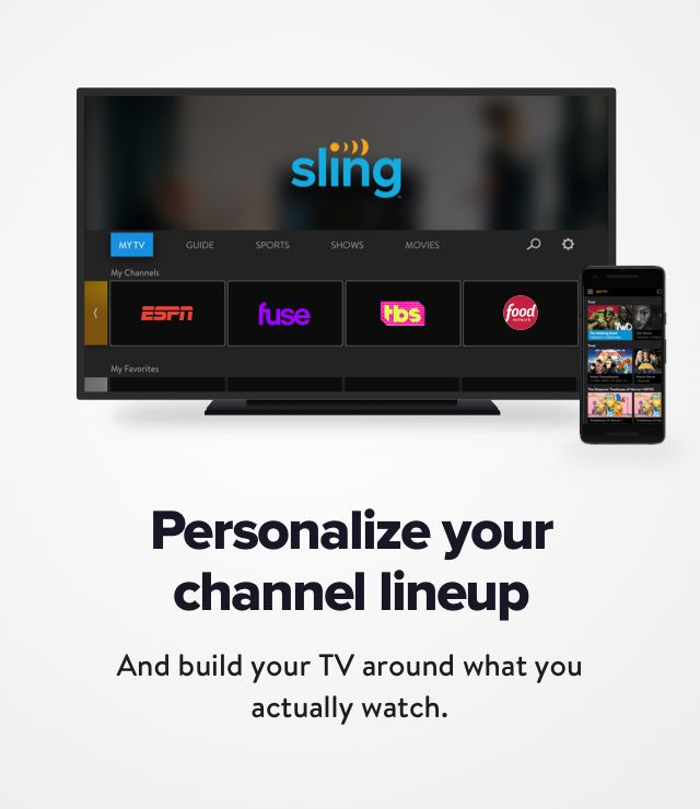 Customizable Tv Services And Channels Sling Tv In 2020 Tv