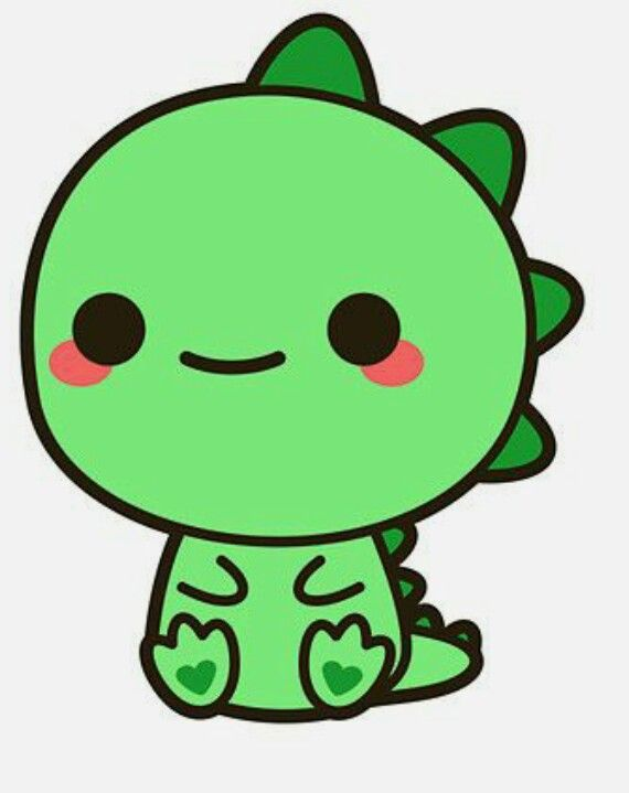 Hallo hij is zo cute. Wie vind dat nou niet. | Kawaii dinosaur, Cute  cartoon drawings, Cute kawaii drawings