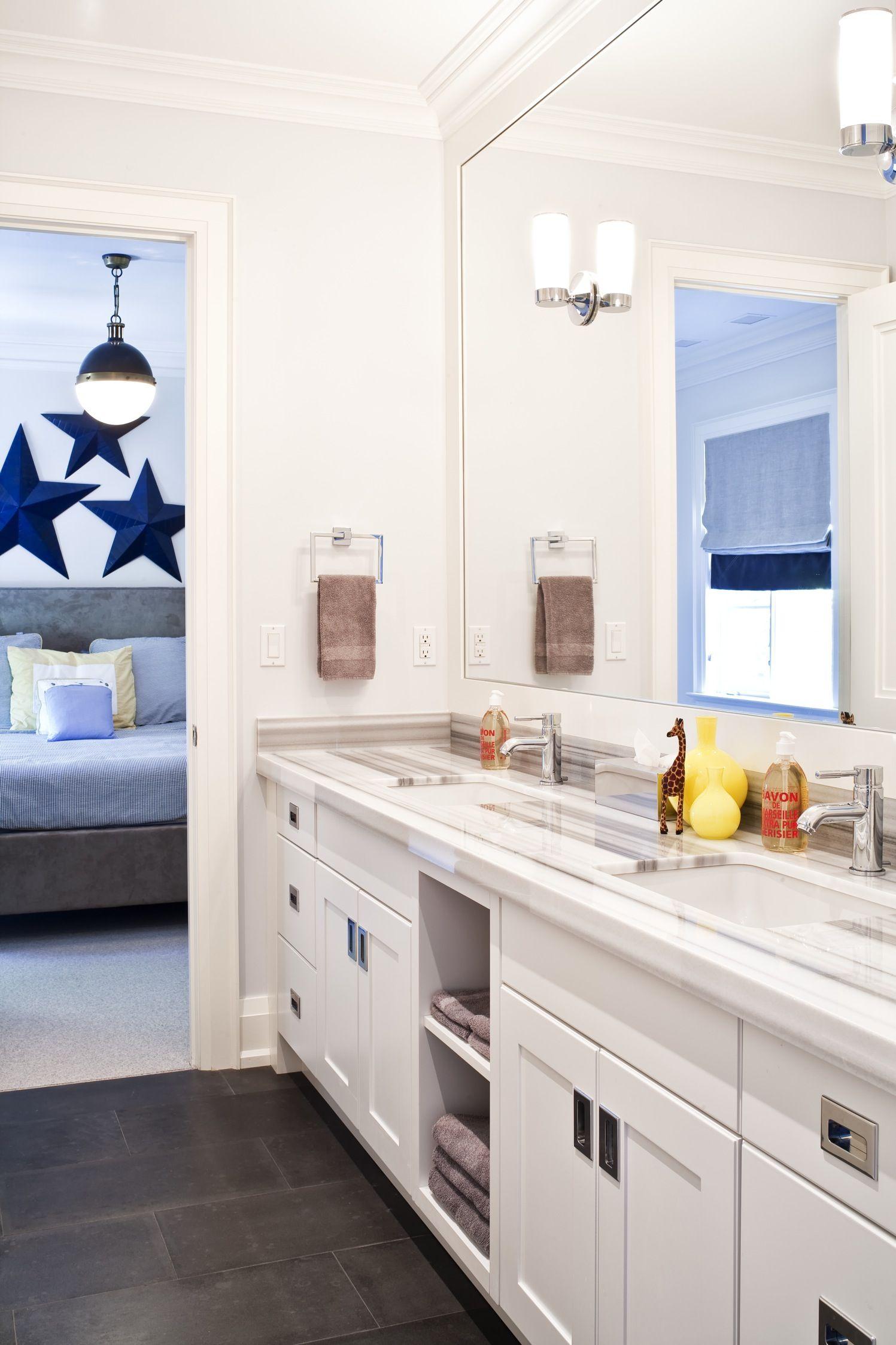 The Art Gallery boys bathroom Jennifer Worts Design