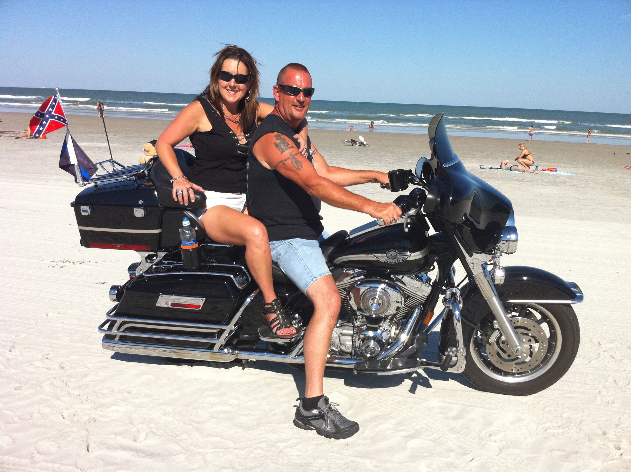 Bruce The Beach And Harley Davidson