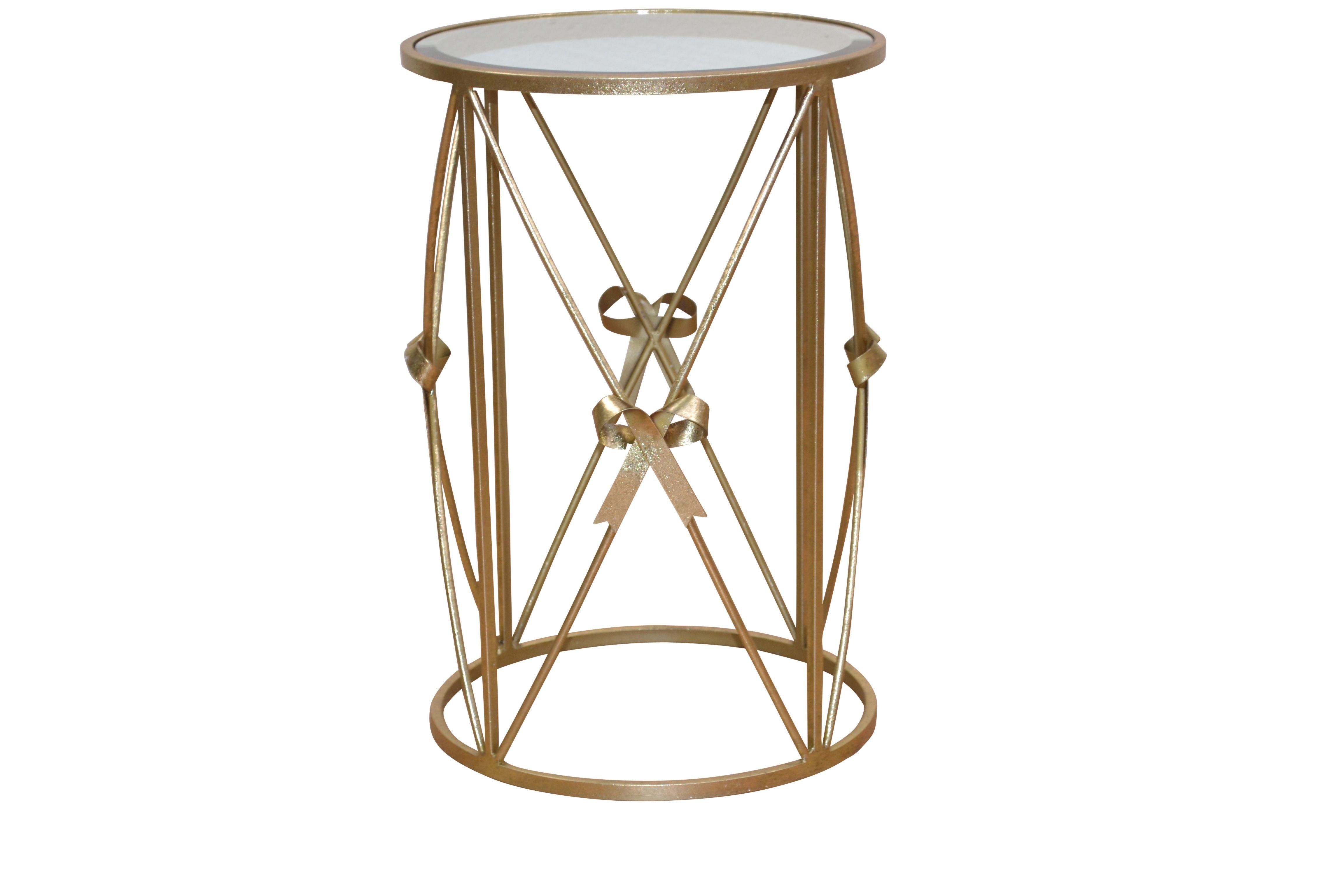 beistelltisch antik goldfarben woody 193-00033 glas modern jetzt, Wohnzimmer dekoo