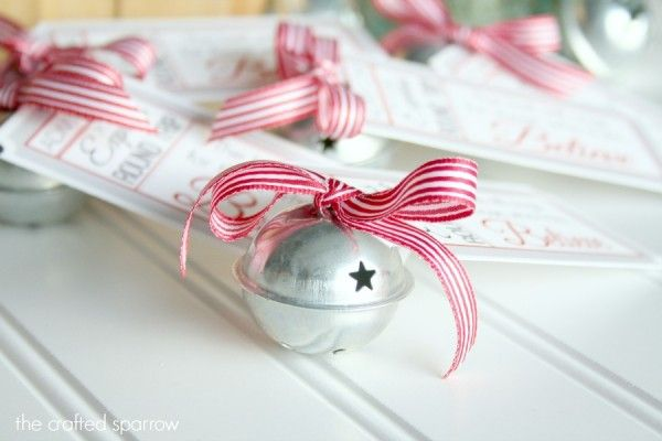 Polar Express Bell Favor Tag for a Christmas Party
