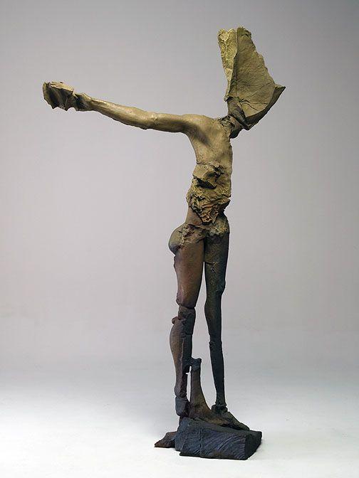 winged figure pointing stephen de staebler artists stephen de