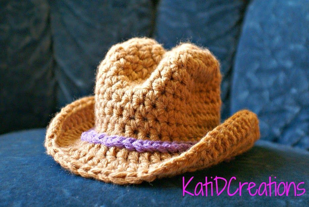 Gorro de estilo cowboy, en crochet by katidcreations. | Andy ...
