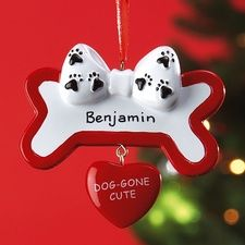 Dog Gone Cute Ornament in Trim the tree from Current on shop.CatalogSpree.com, my personal digital mall.